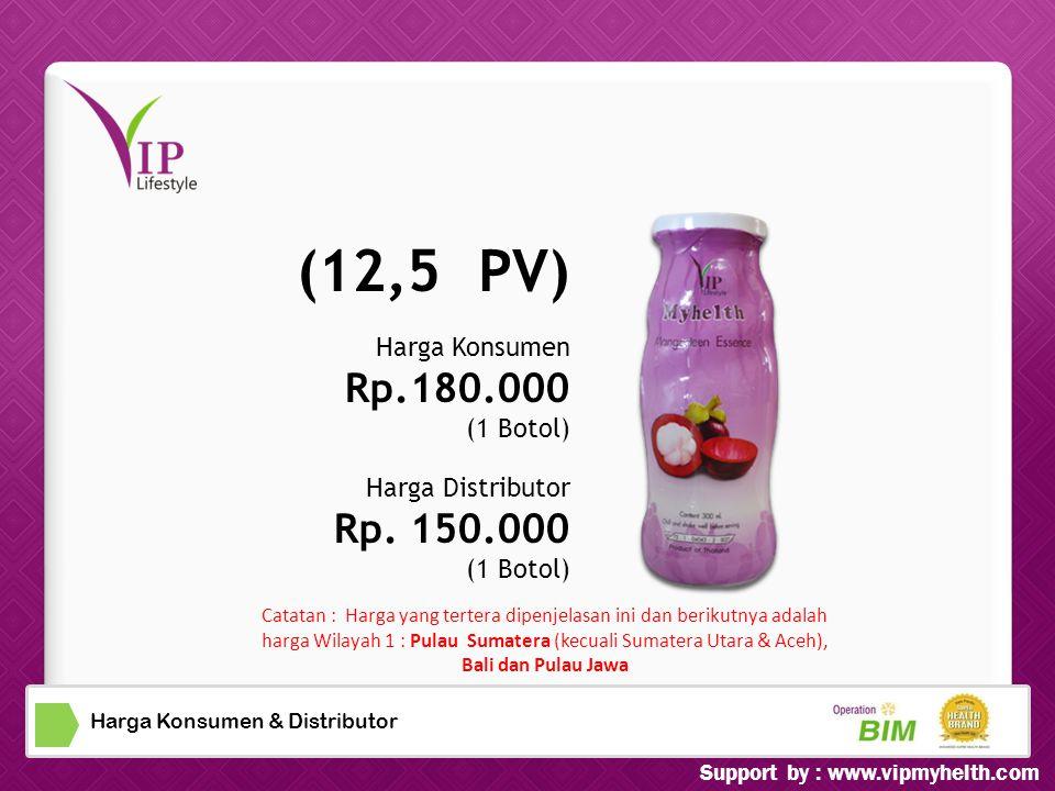 Harga Konsumen & Distributor Harga Konsumen Rp.180.000 (1 Botol) Harga Distributor Rp.