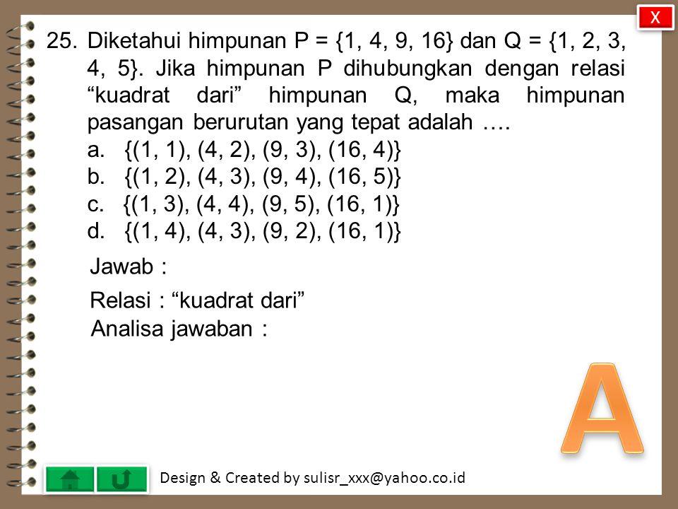 Design & Created by sulisr_xxx@yahoo.co.id 24.Perhatikan diagram .