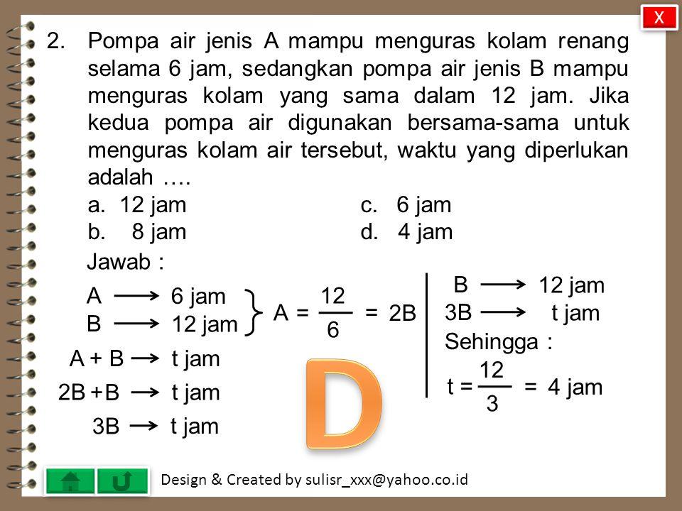 Design & Created by sulisr_xxx@yahoo.co.id 31.Grafik garis g dengan persamaan 2x + y = -6 adalah ….
