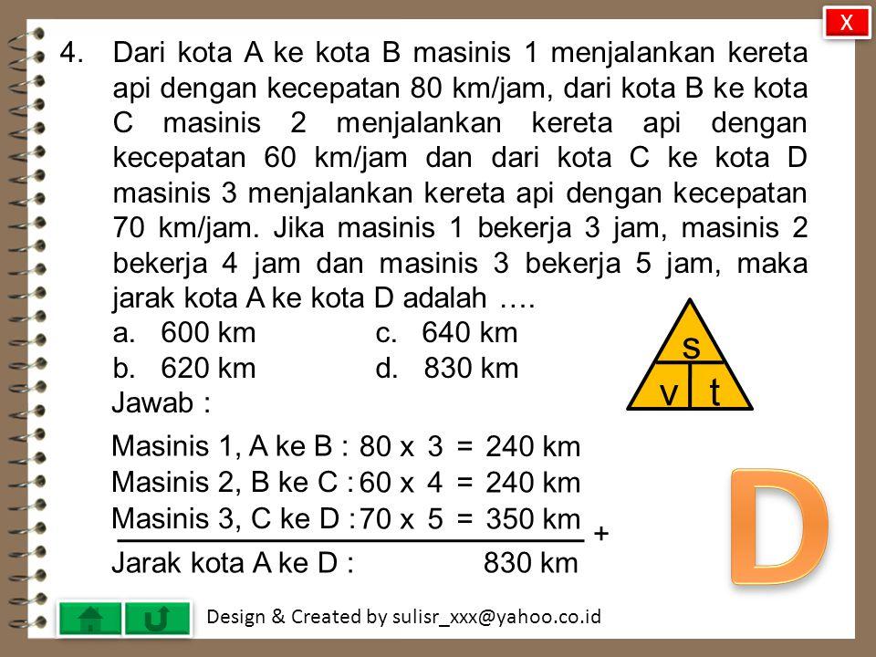 Design & Created by sulisr_xxx@yahoo.co.id 33.Diketahui koordinat titik A(a, -1), B(-1, 1) dan C(-10, 7).