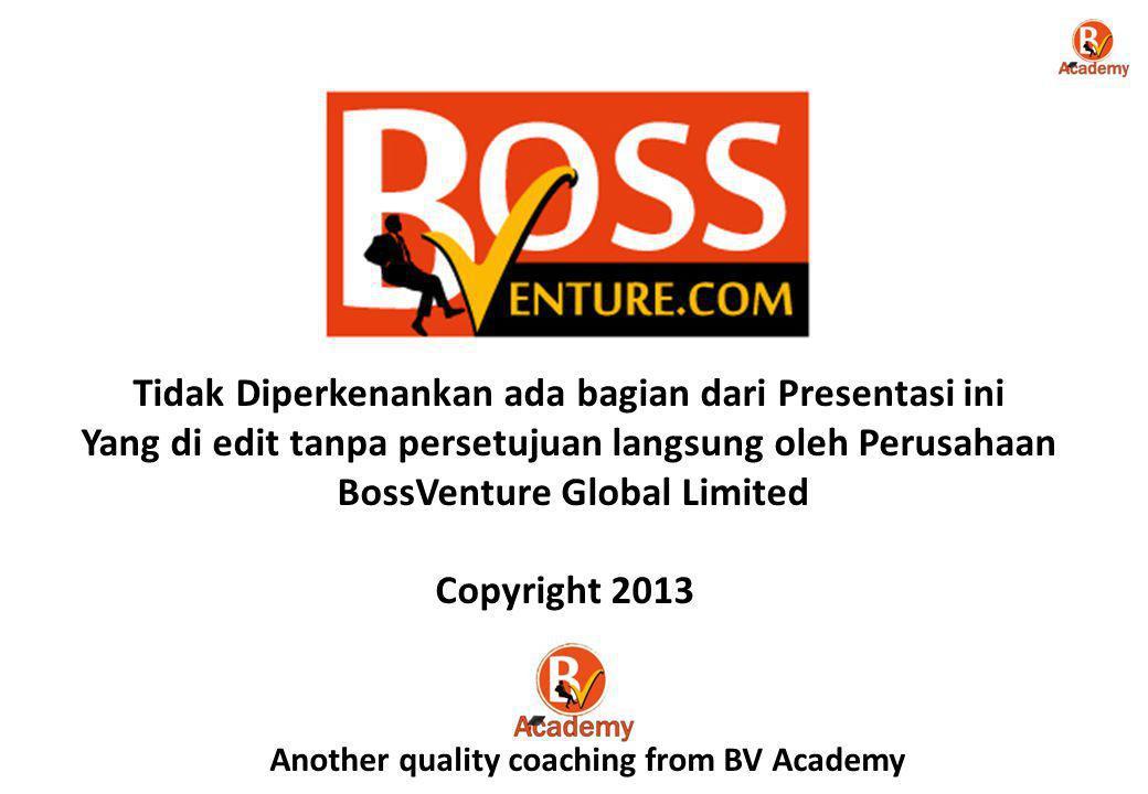 www.BossVenture.com Daily Sales Incentive (DSI) 3 Incentives 7 No.