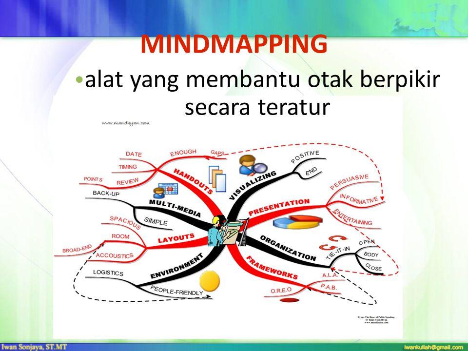 MINDMAPPING • alat yang membantu otak berpikir secara teratur