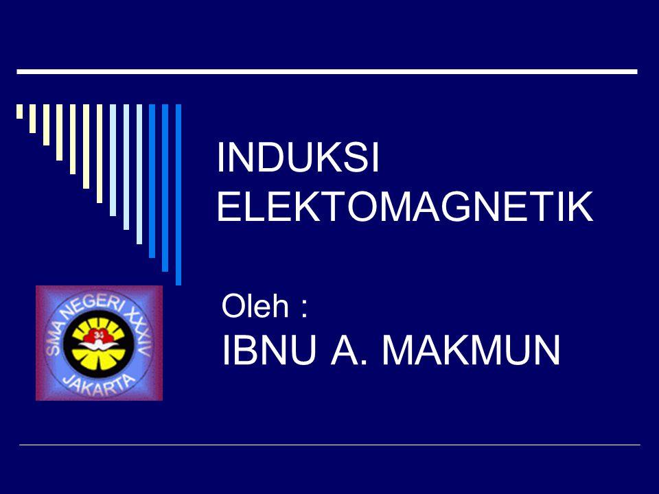 INDUKSI ELEKTOMAGNETIK Oleh : IBNU A. MAKMUN