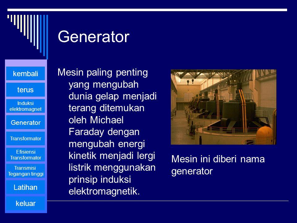 Generator Mesin paling penting yang mengubah dunia gelap menjadi terang ditemukan oleh Michael Faraday dengan mengubah energi kinetik menjadi lergi li