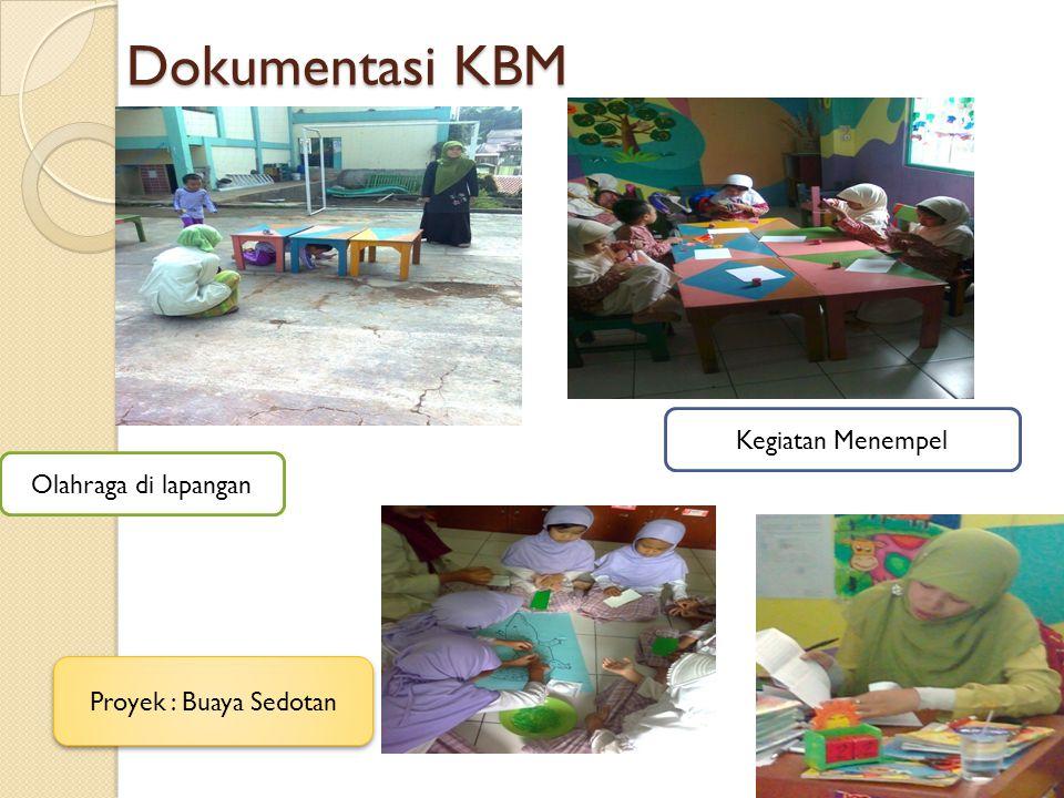 Dokumentasi KBM Olahraga di lapangan Kegiatan Menempel Proyek : Buaya Sedotan