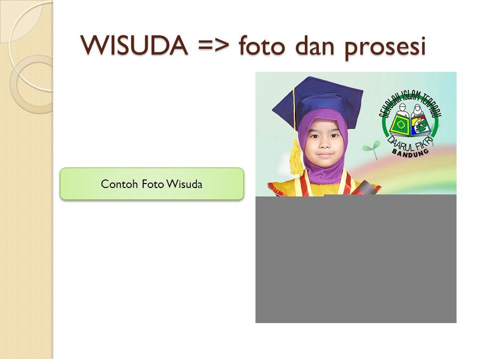 WISUDA => foto dan prosesi Contoh Foto Wisuda