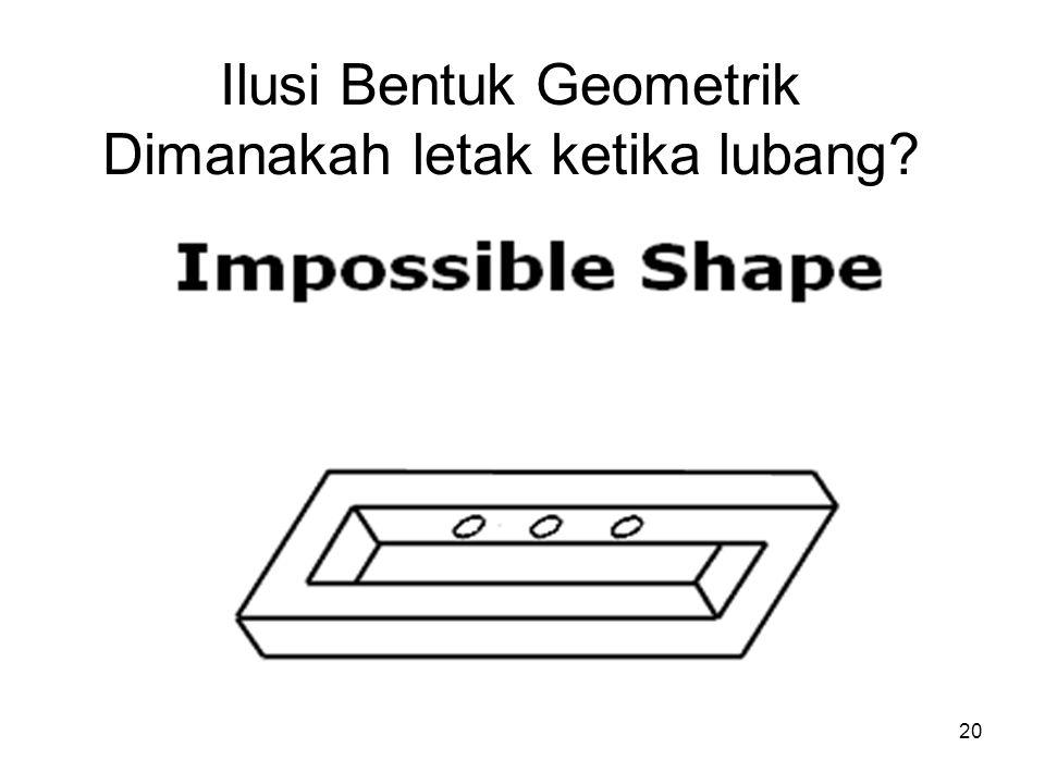 20 Ilusi Bentuk Geometrik Dimanakah letak ketika lubang?