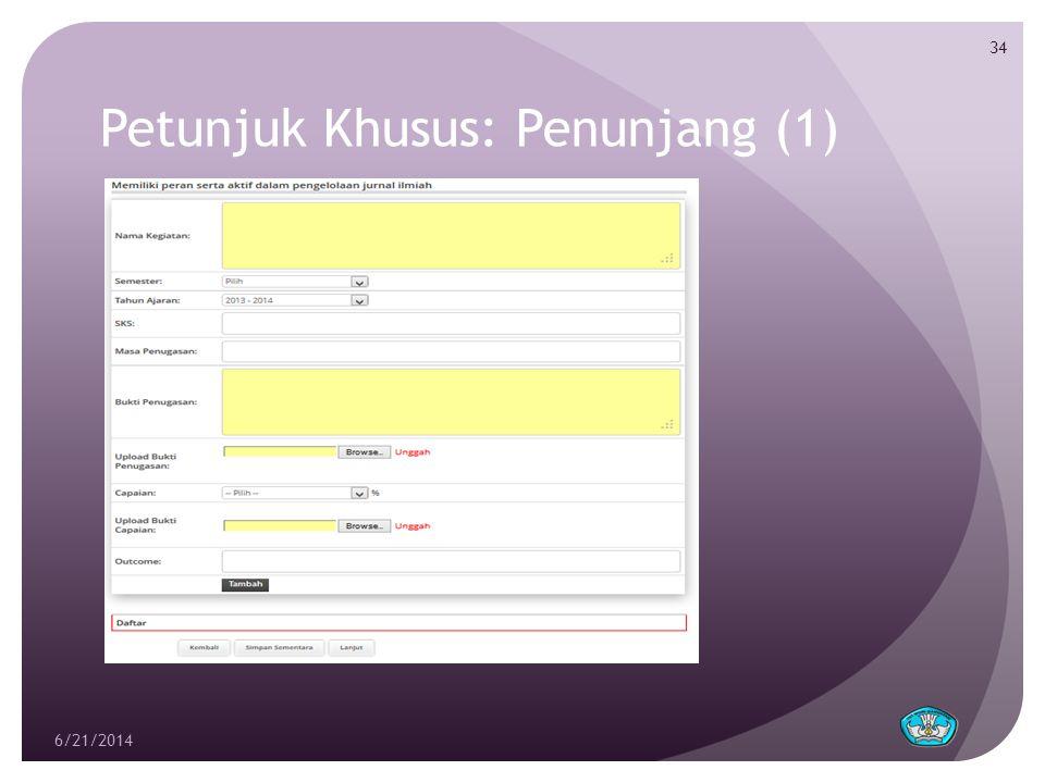 Petunjuk Khusus: Penunjang (1) 6/21/2014 34