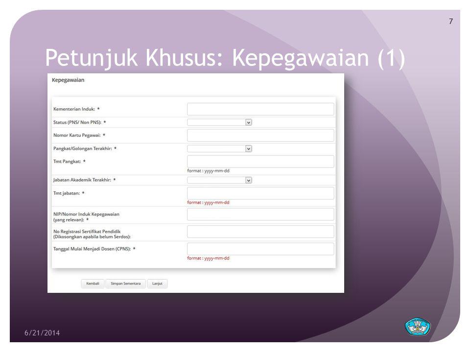 Petunjuk Khusus: Pendidikan (3)  Upload Bukti Capaian.