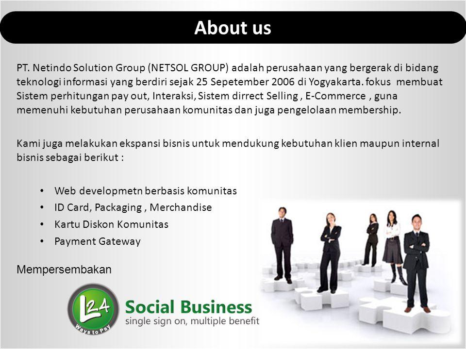 PT. Netindo Solution Group (NETSOL GROUP) adalah perusahaan yang bergerak di bidang teknologi informasi yang berdiri sejak 25 Sepetember 2006 di Yogya