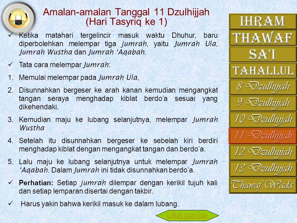 Ifadhah. 7. Kemudian berangkat ke Makkah untuk melakukan thawaf Ifadhah. Dalam thawaf Ifadhah tidak ada perbedaan dalam tata caranya dengan thawaf qud
