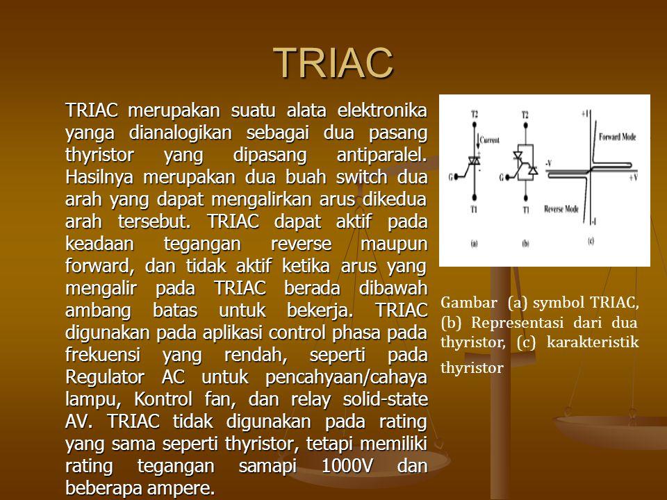 DIAC DIAC memiliki karakteristik yang special.