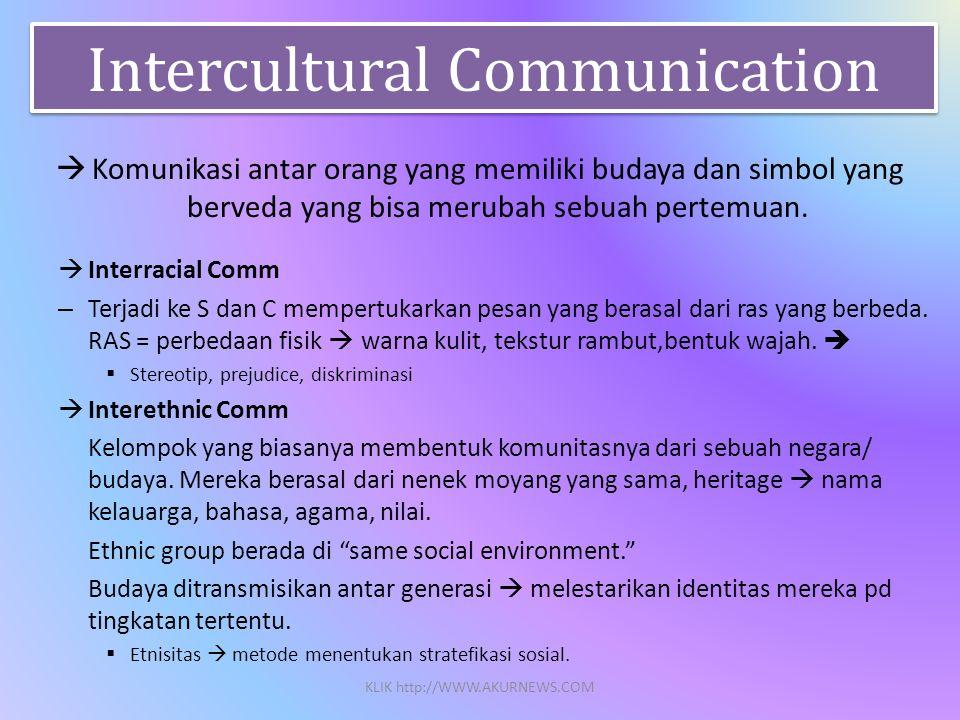  Komunikasi antar orang yang memiliki budaya dan simbol yang berveda yang bisa merubah sebuah pertemuan.