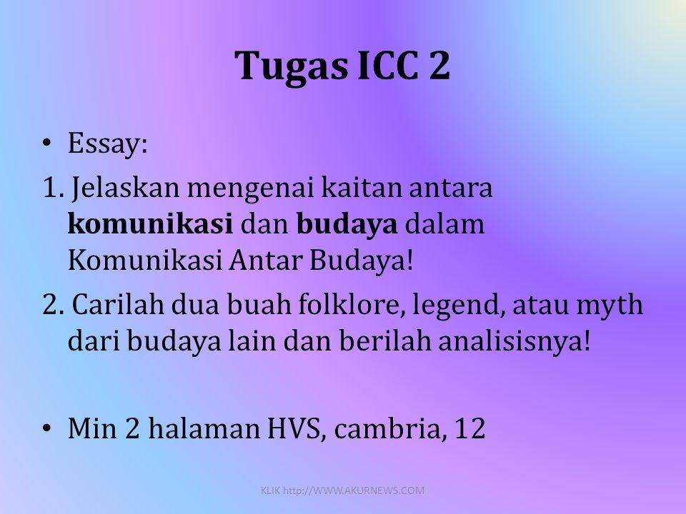 Tugas ICC 2 • Essay: 1.