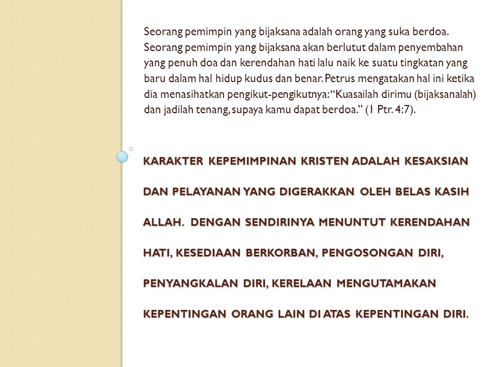 PROFIL KEPEMIMPINAN NABI NEHEMIA 5.