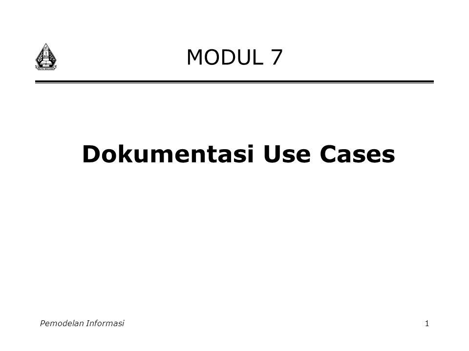 Pemodelan Informasi1 MODUL 7 Dokumentasi Use Cases