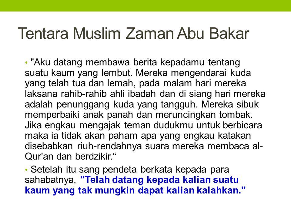 Tentara Muslim Zaman Abu Bakar •