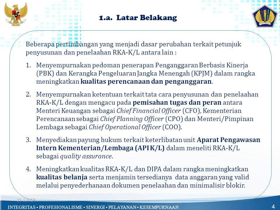 INTEGRITAS • PROFESIONALISME • SINERGI • PELAYANAN • KESEMPURNAAN 4 1.a. Latar Belakang Beberapa pertimbangan yang menjadi dasar perubahan terkait pet