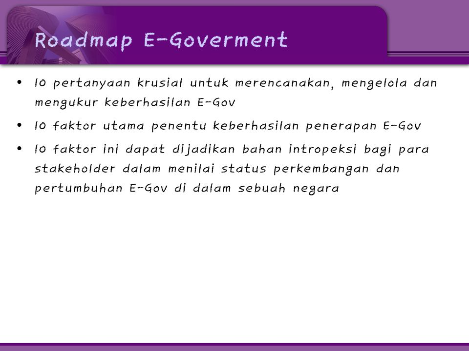 1.Mengapa kita memerlukan E-Gov.