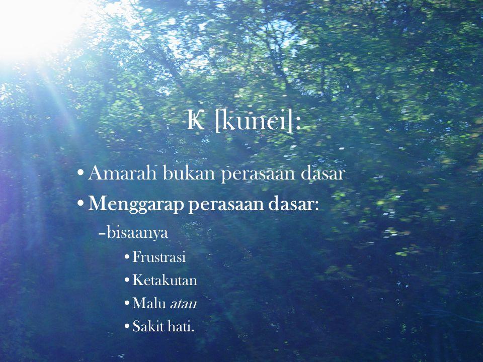 Ҝ [kunci]: •Amarah bukan perasaan dasar •Menggarap perasaan dasar: –bisaanya •Frustrasi •Ketakutan •Malu atau •Sakit hati.