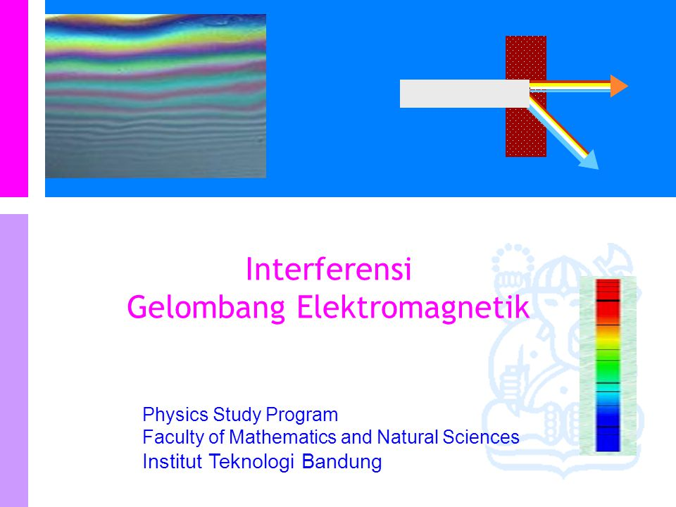 Physics Study Program - FMIPA | Institut Teknologi Bandung PHYSI S It uses a half-silvered mirror to split the incident light into two rays.
