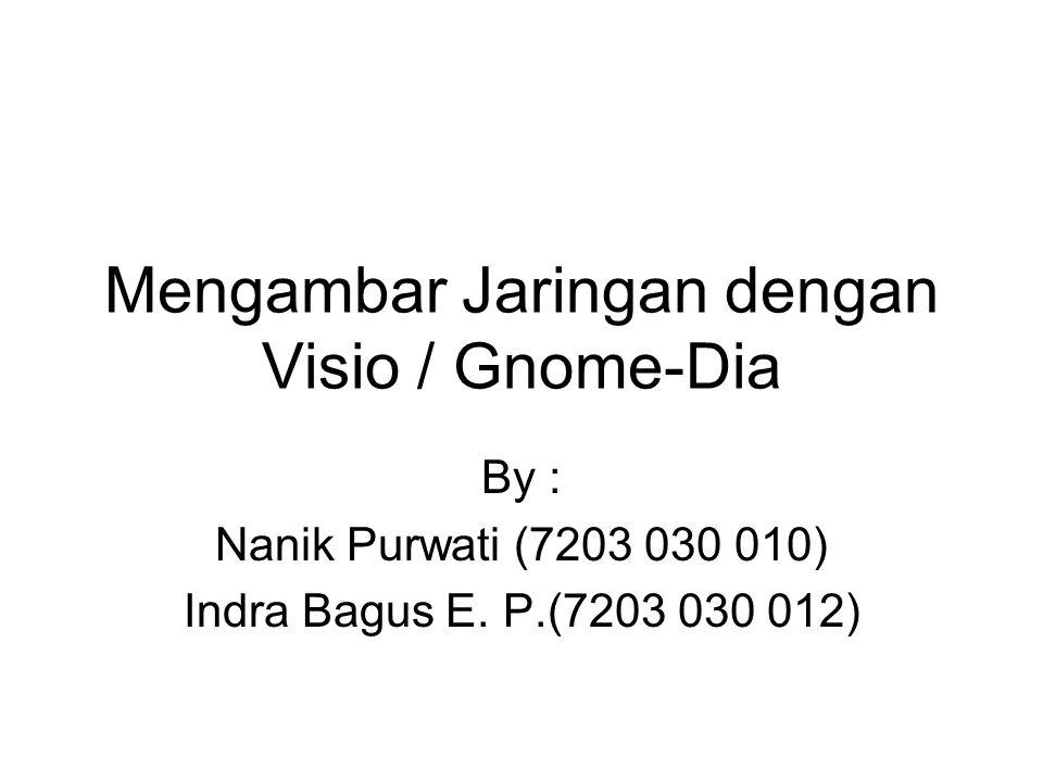Mengambar Jaringan dengan Visio / Gnome-Dia By : Nanik Purwati (7203 030 010) Indra Bagus E.