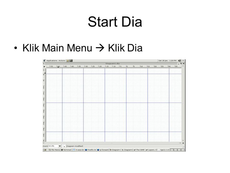 Start Dia •Klik Main Menu  Klik Dia