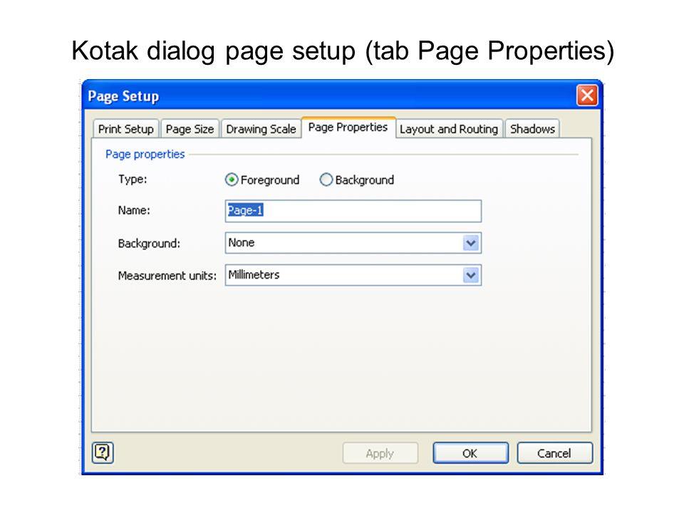 Kotak dialog page setup (tab Page Properties)