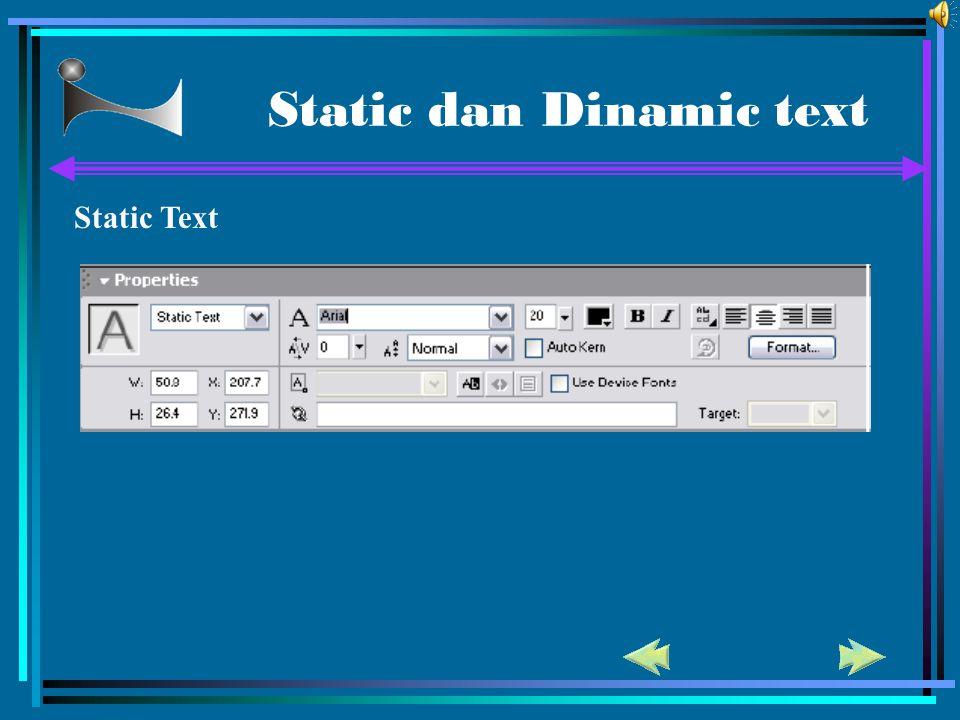 Static dan Dinamic text Static Text