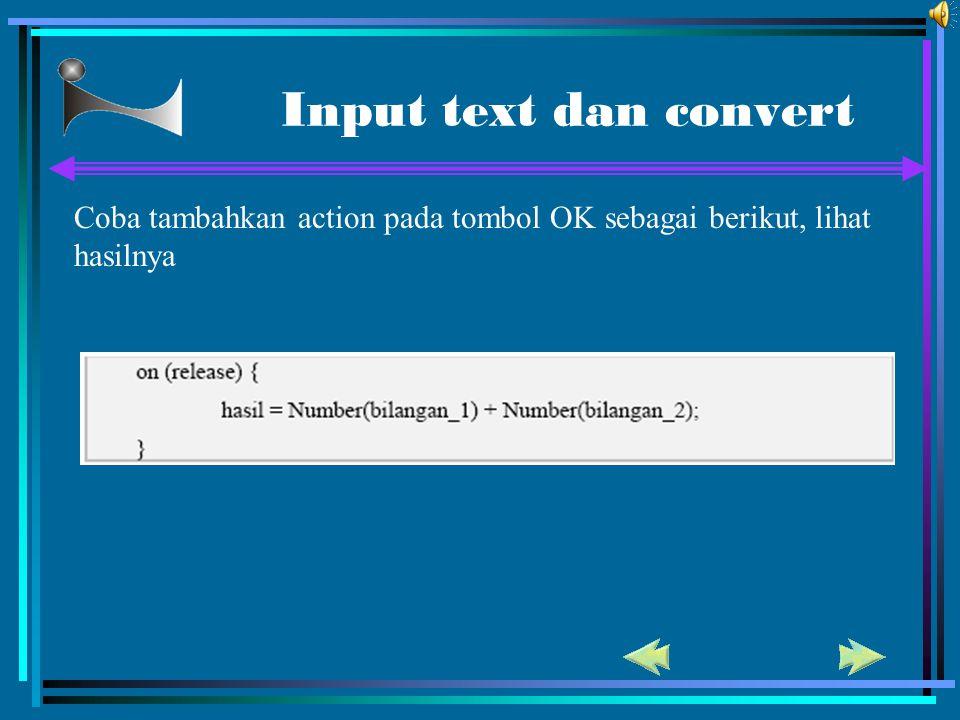 Input text dan convert