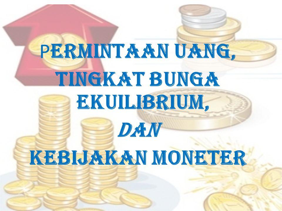 KEBIJAKAN MONETER Kebijakan moneter adalah proses mengatur persediaan uang sebuah negara untuk mencapai tujuan tertentu; seperti menahan inflasi, mencapai pekerja penuh atau lebih sejahtera.