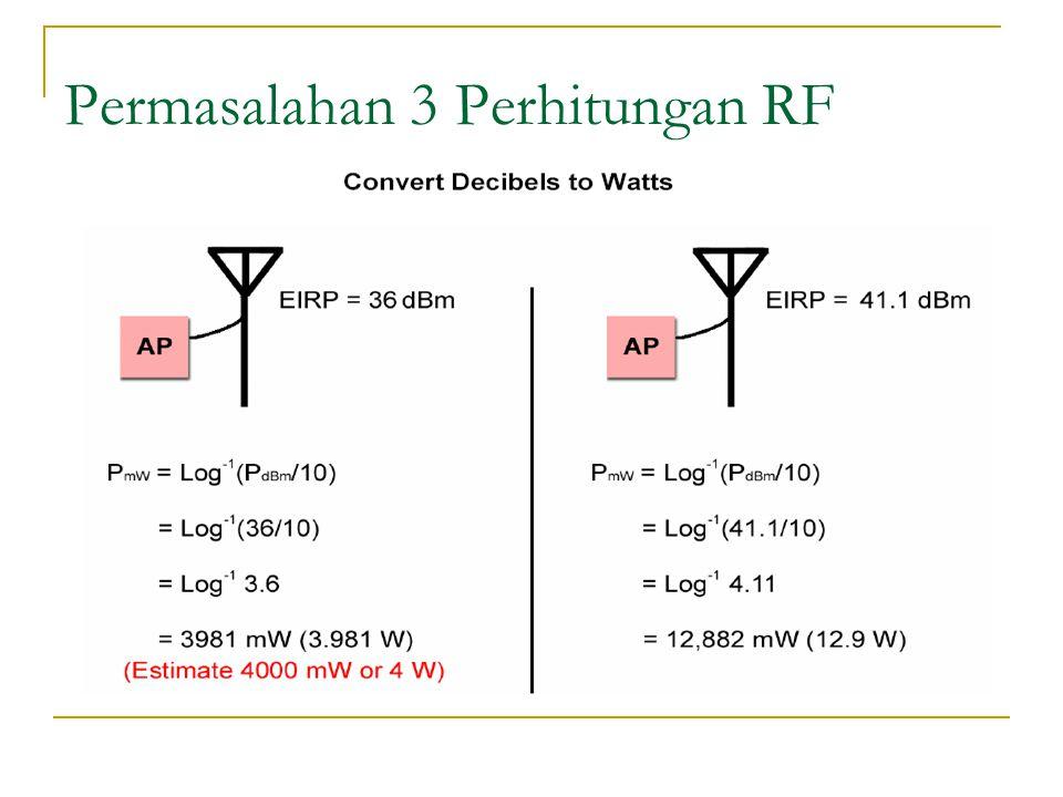 Permasalahan 3 Perhitungan RF