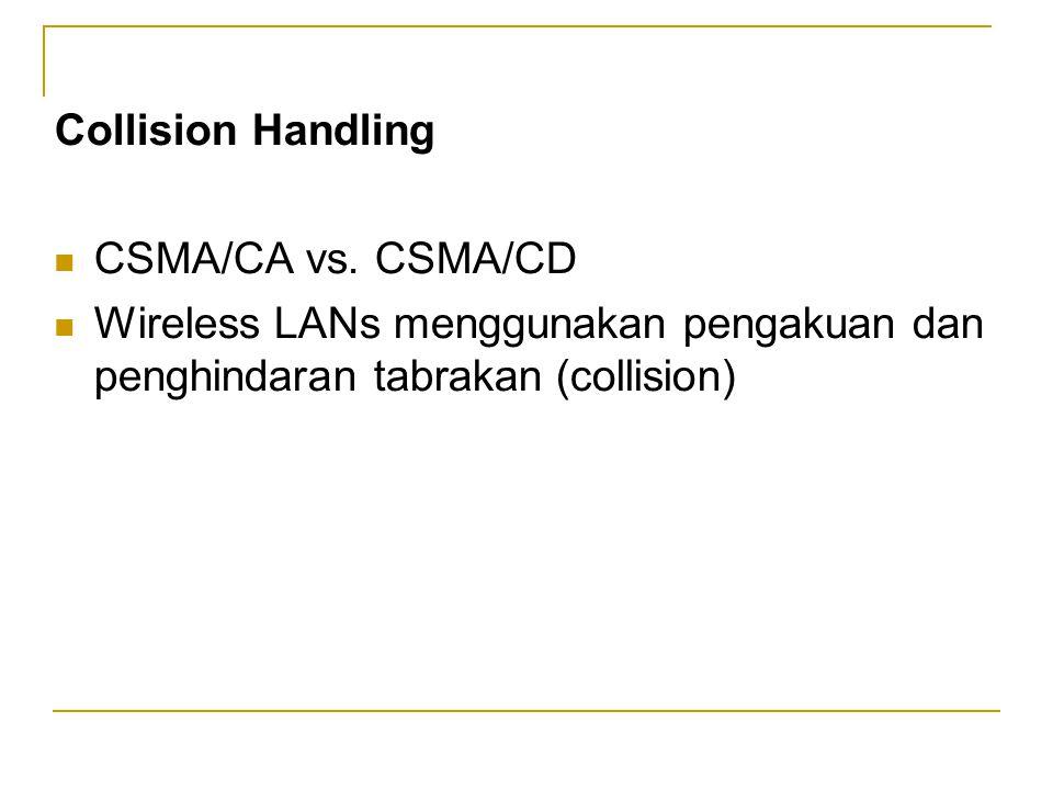 Collision Handling  CSMA/CA vs.