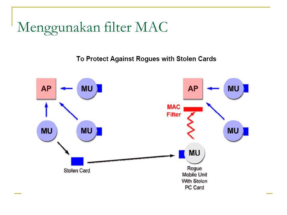 Menggunakan filter MAC