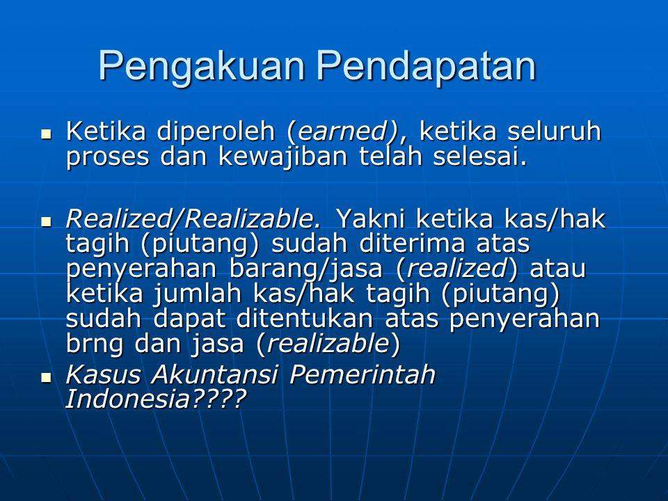 Pengukuran Pendapatan  Nilai Wajar (pengurangan diskonto, atau piutang tak tertagih)  Pendapatan diakui dan diukur dengan asas bruto, yakni dg mencatat jumlah brutonya, tidak nettonya.