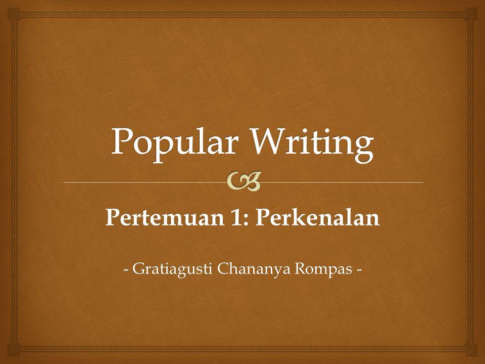 Pertemuan 1: Perkenalan - Gratiagusti Chananya Rompas -
