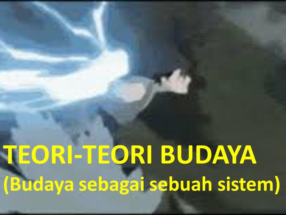 TEORI-TEORI BUDAYA (Budaya sebagai sebuah sistem)