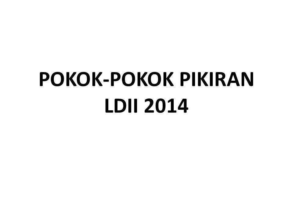 POKOK-POKOK PIKIRAN LDII 2014