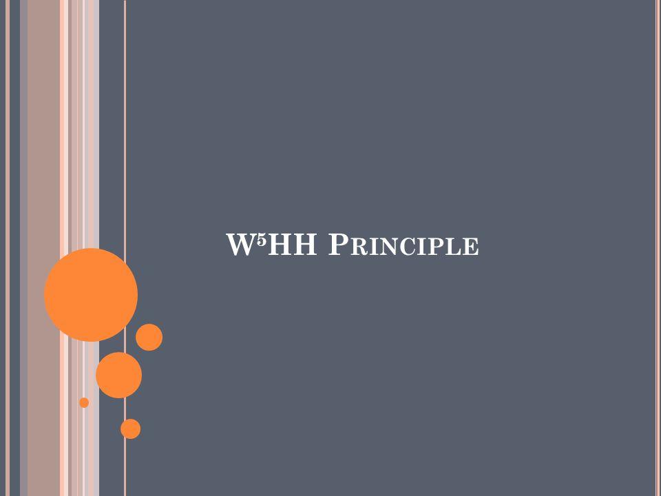 W 5 HH P RINCIPLE