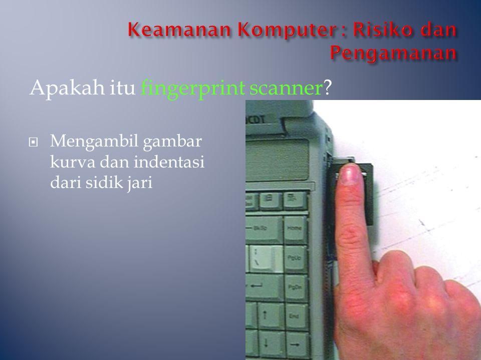 Apakah itu fingerprint scanner?  Mengambil gambar kurva dan indentasi dari sidik jari
