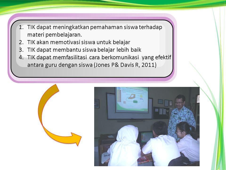1.TIK dapat meningkatkan pemahaman siswa terhadap materi pembelajaran.