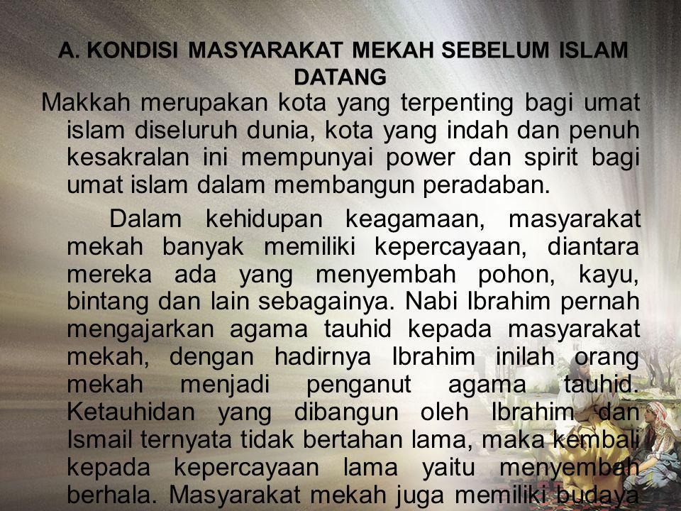 TUGAS SEJARAH PERADABAN ISLAM PADA MASA NABI MUHAMMAD SAW ISNAINI NURJANNAH NIM: 2811133115 PAI 1-D