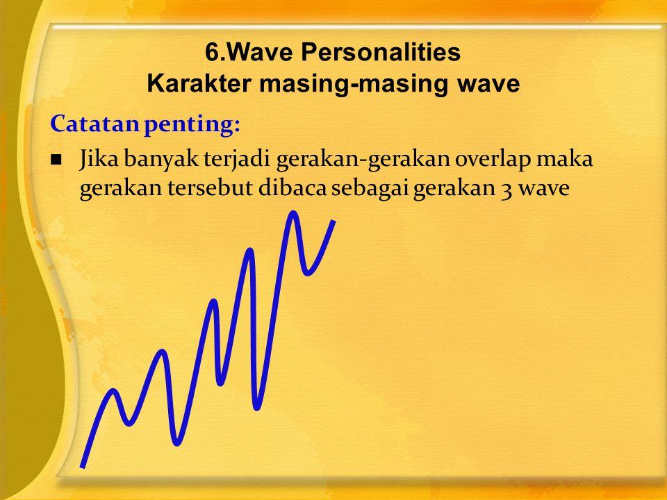 Catatan penting:  Jika banyak terjadi gerakan-gerakan overlap maka gerakan tersebut dibaca sebagai gerakan 3 wave 6.Wave Personalities Karakter masin