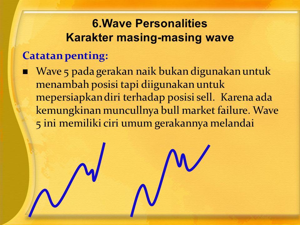 Catatan penting:  Wave 5 pada gerakan naik bukan digunakan untuk menambah posisi tapi diigunakan untuk mepersiapkan diri terhadap posisi sell. Karena