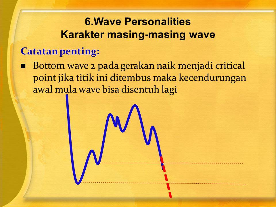 Catatan penting:  Bottom wave 2 pada gerakan naik menjadi critical point jika titik ini ditembus maka kecendurungan awal mula wave bisa disentuh lagi