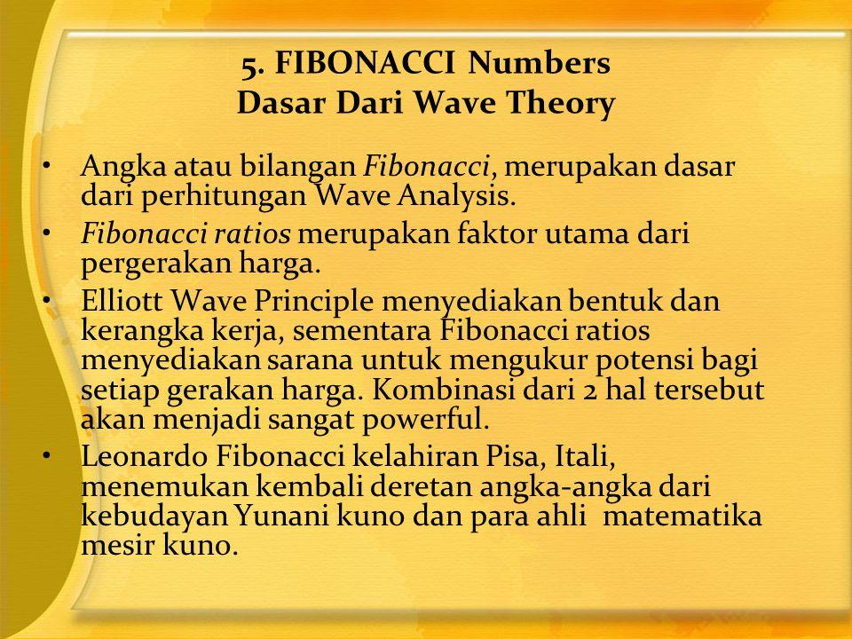 •Angka atau bilangan Fibonacci, merupakan dasar dari perhitungan Wave Analysis. •Fibonacci ratios merupakan faktor utama dari pergerakan harga. •Ellio