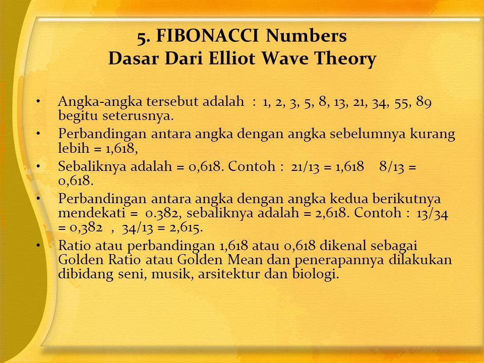 •Angka-angka tersebut adalah : 1, 2, 3, 5, 8, 13, 21, 34, 55, 89 begitu seterusnya. •Perbandingan antara angka dengan angka sebelumnya kurang lebih =