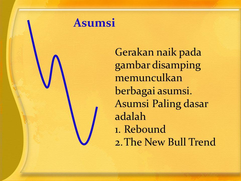 Asumsi Gerakan naik pada gambar disamping memunculkan berbagai asumsi. Asumsi Paling dasar adalah 1.Rebound 2.The New Bull Trend