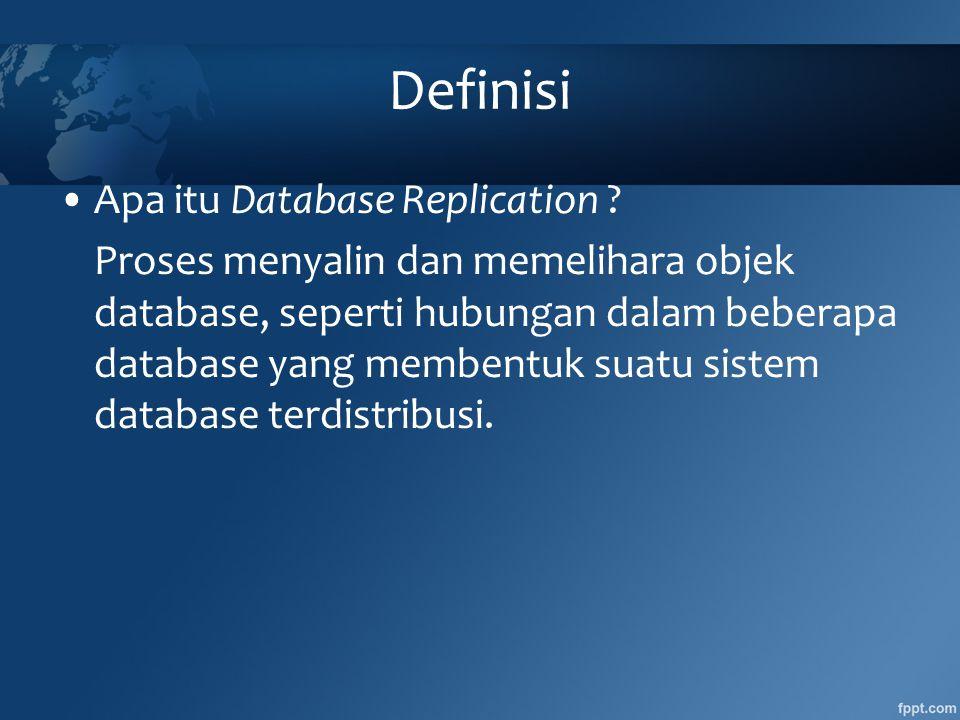 Definisi •Apa itu Database Replication .