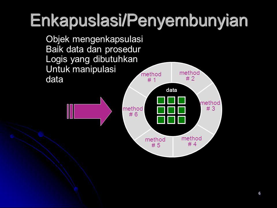 16 Class Analisis  Entitias external (contoh : sistem lain, piranti, orang) yang menghasilkan atau menggunakan informasi yang digunakan oleh sistem berbasis komputer.